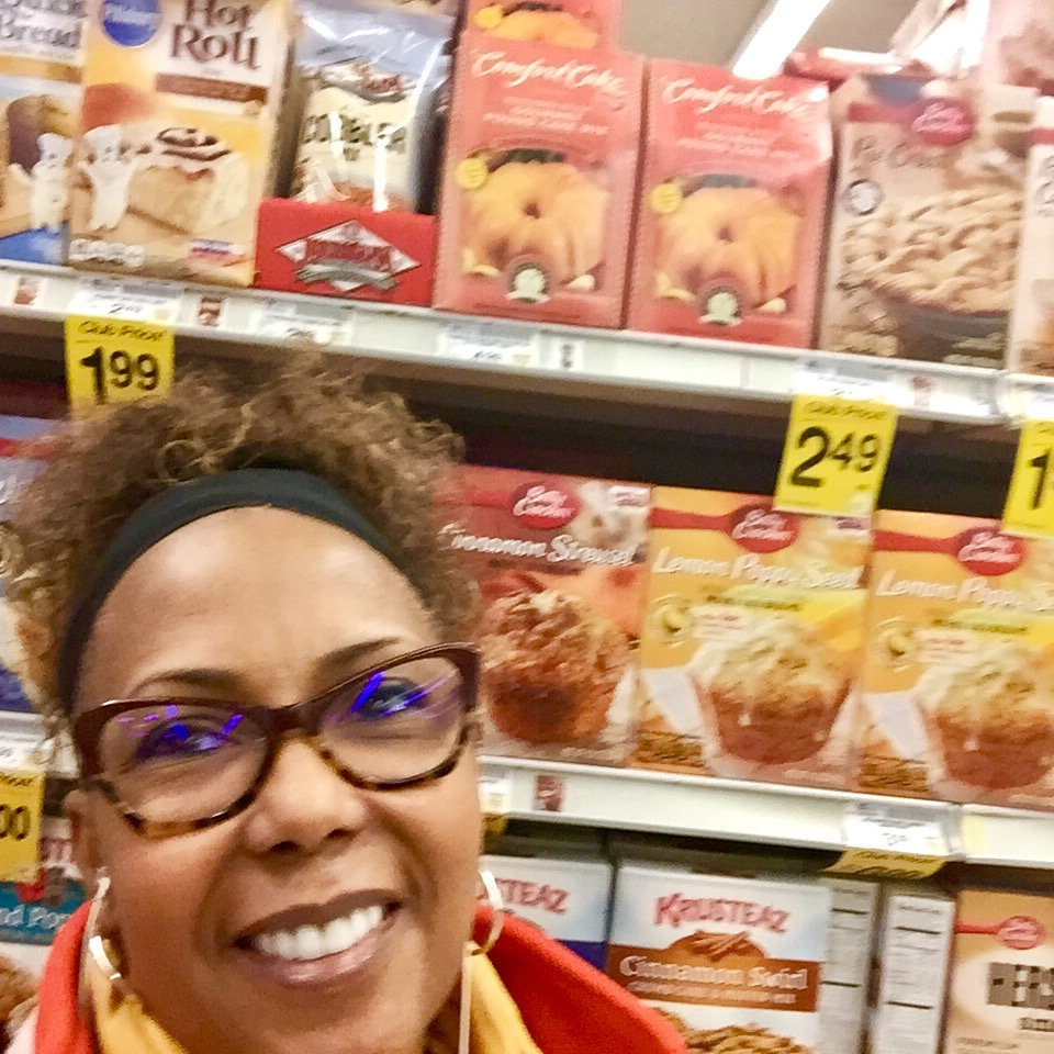 With ComfortCake mix at Walmart